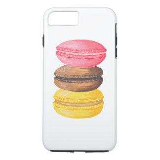Macarons d'aquarelle de bonbons à illustration de coque iPhone 7 plus