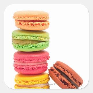 Macarons français sticker carré