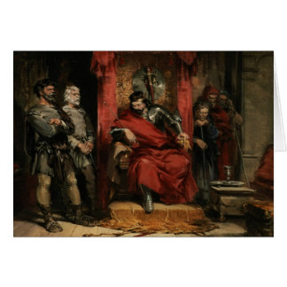 Macbeth instruisant les meurtriers carte de vœux