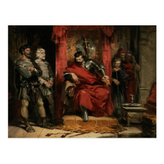 Macbeth instruisant les meurtriers carte postale