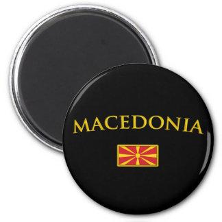 Macédoine d'or magnet rond 8 cm