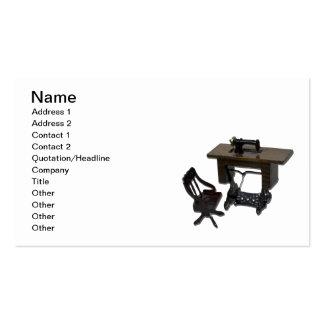 Machine à coudre et chaise carte de visite standard