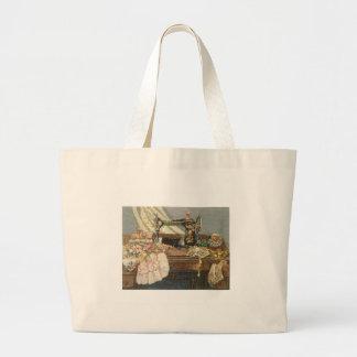 Machine à coudre et robe sac de toile