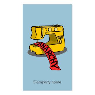 Machine à coudre jaune d'anarchie carte de visite standard