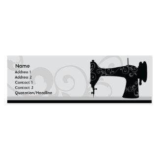 Machine à coudre - maigre carte de visite petit format