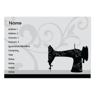 Machine à coudre - potelée carte de visite grand format