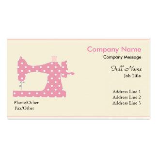 Machine à coudre rose moderne élégante carte de visite standard