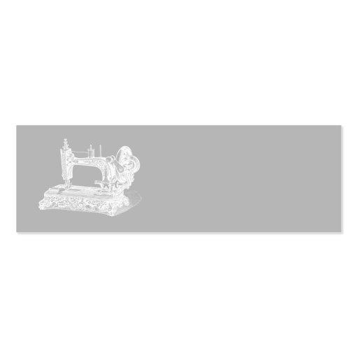 Machine à coudre vintage - gris blanc de rétros ma cartes de visite personnelles
