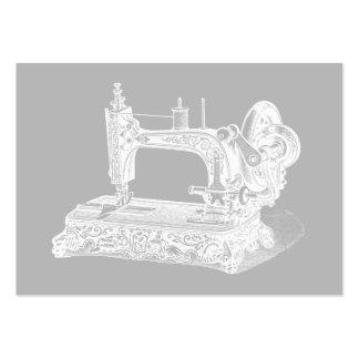 Machine à coudre vintage - gris blanc de rétros ma carte de visite grand format
