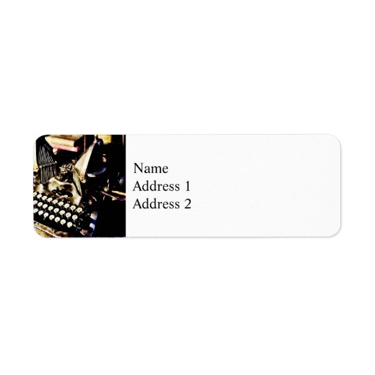 Machine à écrire antique Oliver #9 Étiquettes D'adresse Retour