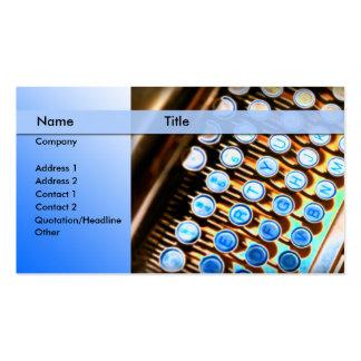 machine à écrire - journaliste de rédacteur carte de visite standard