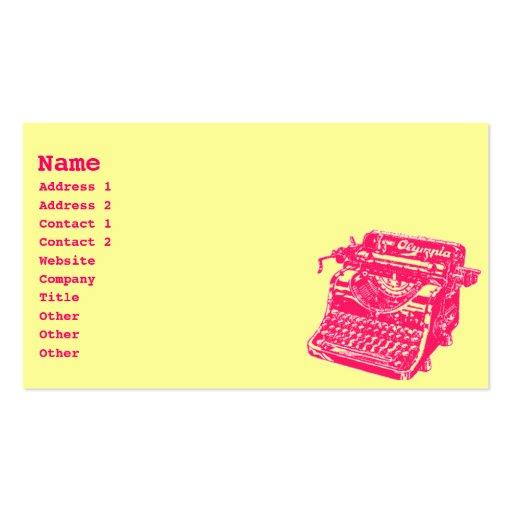 Machine à écrire vintage modèle de carte de visite