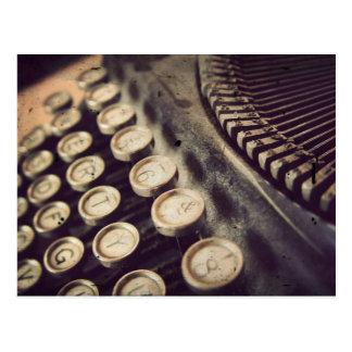 Machine à écrire vintage carte postale