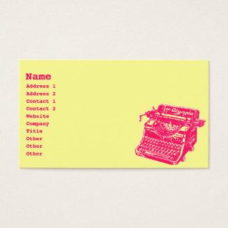 Machine à écrire vintage cartes de visite