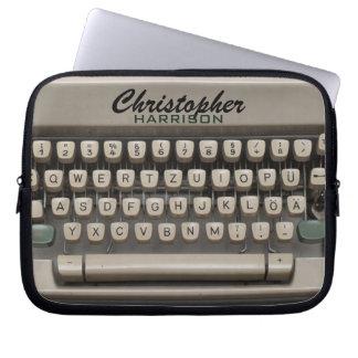 Machine à écrire vintage personnalisée trousses pour ordinateur portable