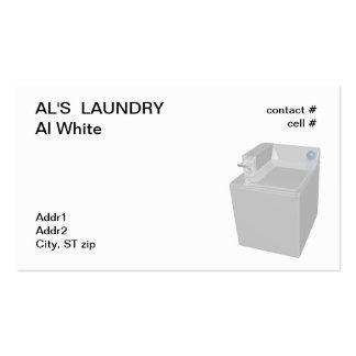 machine à laver à jetons carte de visite standard