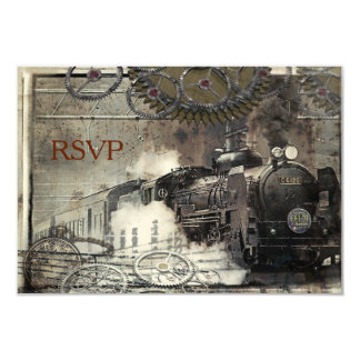 Machine à vapeur Steampunk RSVP Carton D'invitation 8,89 Cm X 12,70 Cm