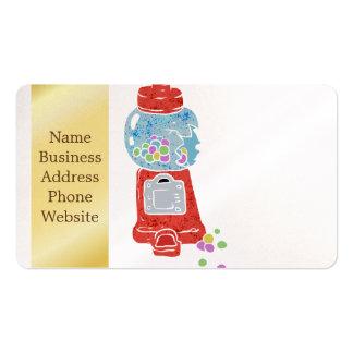 Machine de bubble-gum carte de visite standard