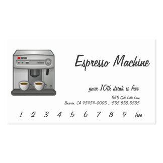Machine de café express modèle de carte de visite