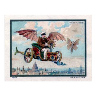 Machine de vol française - pilote victorien de cartes postales