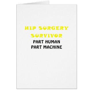 Machine humaine de pièce de pièce de survivant de carte de vœux
