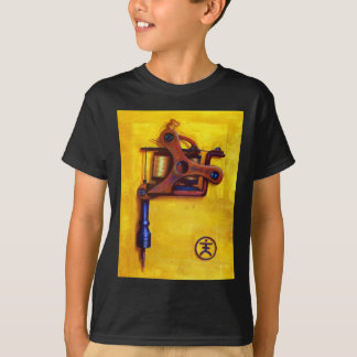 Machine vintage de tatouage (jaune) t-shirt