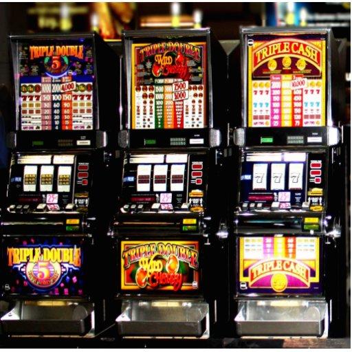 Machines à rêves de fentes de Las Vegas Photo En Découpe