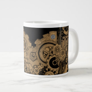 Machines de Steampunk (cuivre) Mug Jumbo