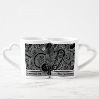 Machines de Steampunk (monochromes) Set Mugs Duo