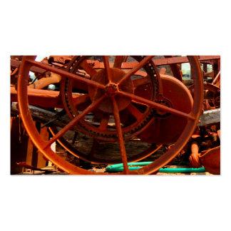 Machines rouillées de steampunk d'équipement de carte de visite standard