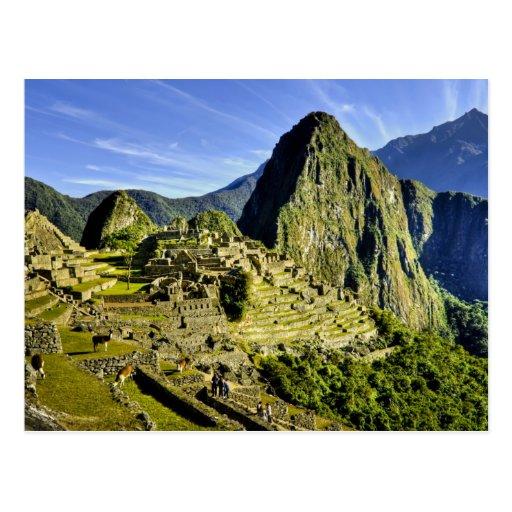 Machu antique Picchu, dernier refuge de Carte Postale