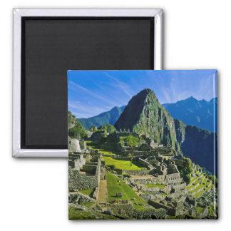 Machu antique Picchu, dernier refuge des 2 Magnet Carré