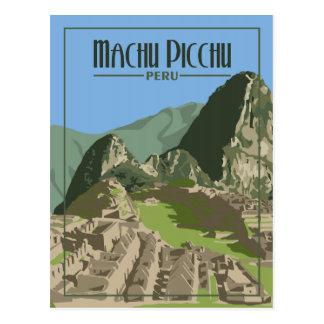 Machu Picchu Pérou - carte postale vintage de