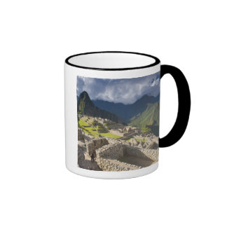 Machu Picchu, ruines antiques, monde 3 de l'UNESCO Mug Ringer