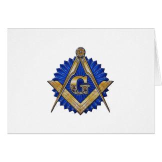 Maçon bleu de loge carte de vœux