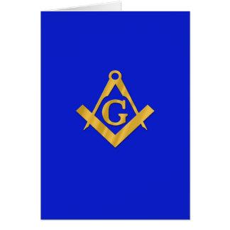 Maçon - bleu maçonnique cartes