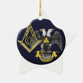 Maçon écossais de rite ornement étoile en céramique