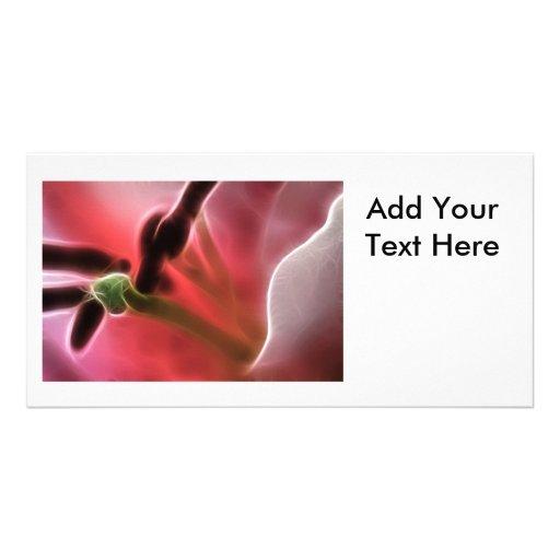 Macro fractale de photo de lis cartes de vœux avec photo