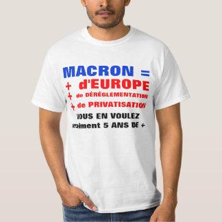 MACRON = Déréglementation = Mondialisation T-shirt