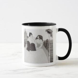 Madame à la coiffeuse (encre et lavage) mug