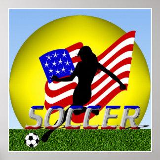 Madame américaine Soccer Poster de fille