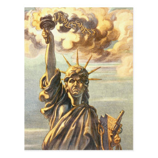 Madame anarchique Liberty Carte Postale