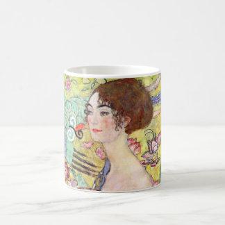 Madame avec la fan par Gustav Klimt, Japonism Mug