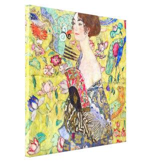 Madame avec la fan par Gustav Klimt, Japonism Toiles