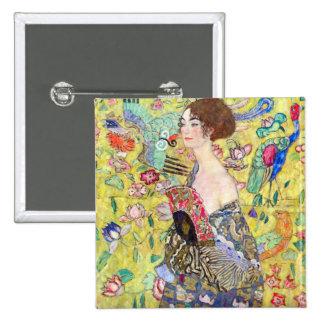 Madame avec la fan par Gustav Klimt Pin's