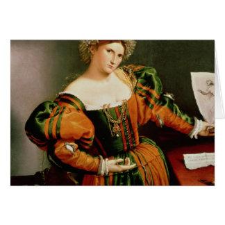 Madame avec un dessin de Lucretia, c.1530-33 Carte De Vœux