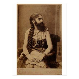 Madame barbue carte postale
