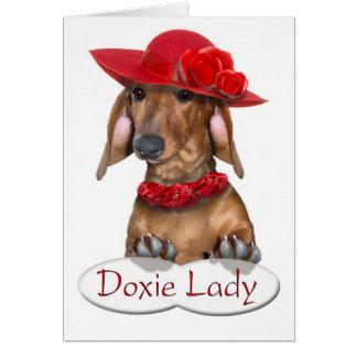 Madame Card de Doxie Carte De Vœux