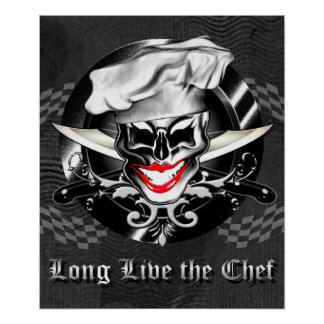 Madame Chef Skull Poster