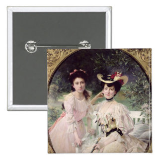 Madame Collas et sa Daughter, Giselle, 1903 Badges